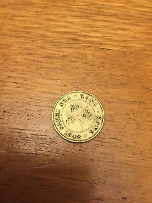 1948 Coin Hong Kong Ten Cents Circulated
