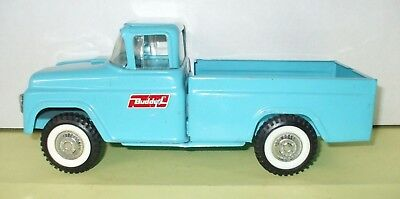 Vintage 1960's Buddy L Blue Pressed Steel Kennel Toy Truck - Clean