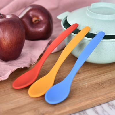 1Pc Kitchen Utensil Silicone Spoon Heat Resistant No-Scratch Cooking Baking Tool