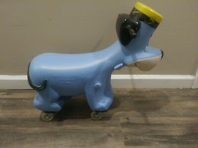 Rare Vintage 1960's Huckleberry Hound Child's Ride-On Toy Scooter -Hanna-Barbera