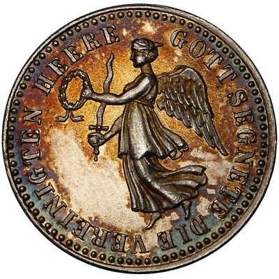 100454 | Germany 1914 Siegespfennig Victory Penny Silver Medal Wwi Kutno