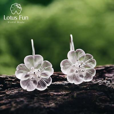 Lotus Fun Real 925 Sterling Silver Handmade Natural Designer Fine Jewelry Flower