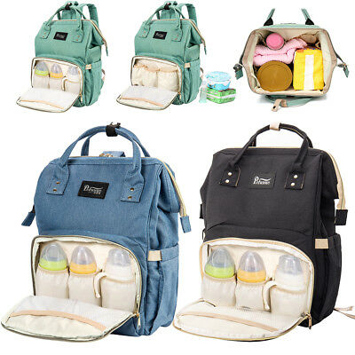 Mummy Backpack Changing Bag Large Multifunctional Baby Nappy Diaper Bag