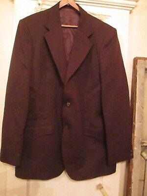 vtg Circle S Men's 2 pc Western Suit new w/tags Brown Polyester