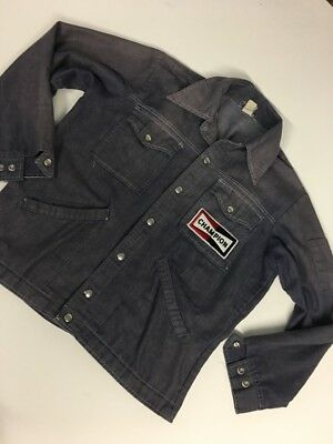 VTG 1970s S/M American Workwear Denim Mechanics Jacket Chore Champion Spark Plug