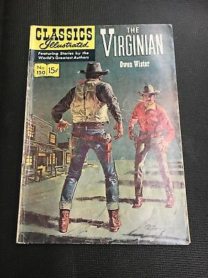 classics Illustrated 150 THE VIRGINIAN HRN 150 Vg/fn Great Story