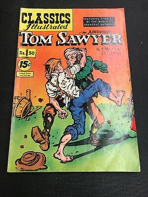 classics Illustrated 50 TOM SWAYER HRN 117 Great Good Colours