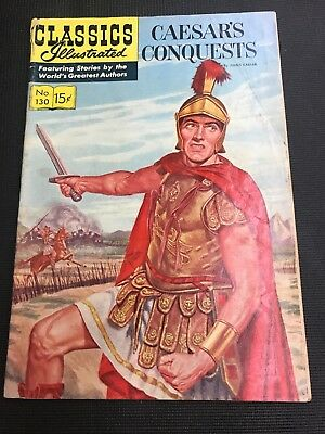 classics Illustrated 130 CAESAR's CONQUESTS Great Story