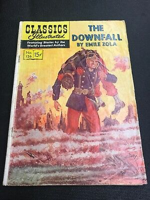 classics illustrated 126 THE DOWNFALL Great Colours And Really Story