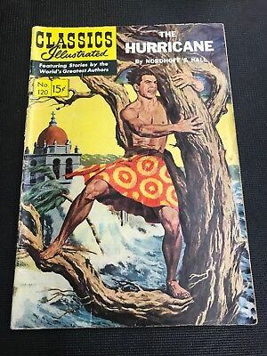 classics illustrated 120 The Hurricane Hrn 121 Vg+ Good Condition