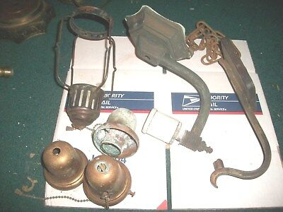 Large Mixed Lot Of Brass Light & Many Parts