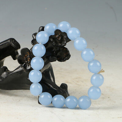 Chinese Hand-carved Natural Jade Bead Bracelet RS014+a