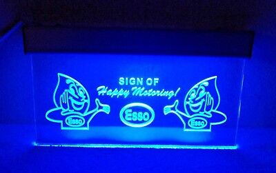 """Esso Electrical Advertising Sign """"Sign Of Happy Motoring"""" 15"""" x 8-3/4""""...WORKING"""