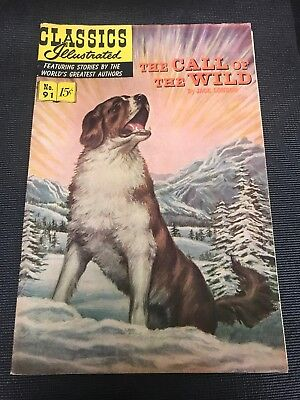 classics illustrated 91 Comics Book Hrn 167 The Call Of The Wild High Grade