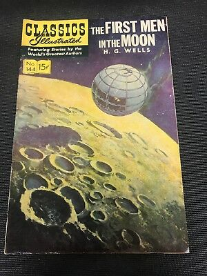 classics illustrated 144 Comics Book Hrn 167 First Men In The Moon  High Grade