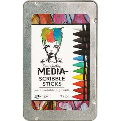 Dina Wakley Media Scribble Sticks 12/Pkg  789541054733