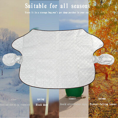 Car Windshield Protector Magnetic Windscreen Cover Sun Shade Frost Snow Shield