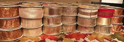 """Lot Of 6 Celebrate It 25 Ft. Spools Of 1.5""""  Wired Ribbon Brand New"""
