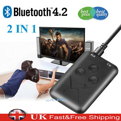 2 in1 Wireless Bluetooth Transmitter Receiver Stereo 3.5mm Audio Adapter RCA AUX