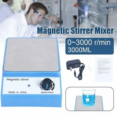 Laboratory 3500rpm Magnetic Stirrer Magnetic Mixer with stir bar 3000ml NEW