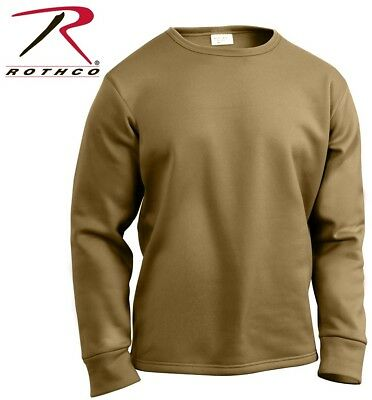 Coyote Crew Neck Top Military ECWCS Cold Weather Thermal Top H.W. Rothco 3851