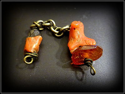 Antique Tibetan Ornament with Coral & Amber