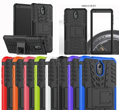 For Nokia 3.1 (2018) Case Hybrid Tough Armor Kickstand Protective Phone Cover
