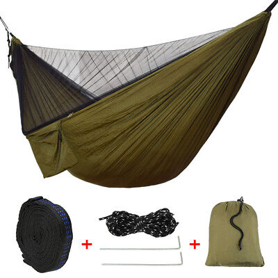 Travel Outdoor Camping Double Person Tent Hanging Hammock Swing Bed Mosquito Net