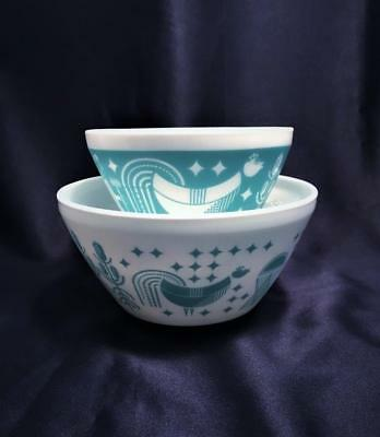 Set Of Two 'vintage Charm' Mixing Bowls Inspired By Pyrex Butterprint Design