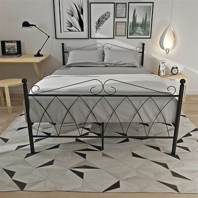 Panana DOUBLE METAL BED FRAME  4FT6 BEDSTEAD IN COLOR BLACK