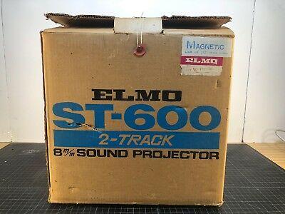 ELMO ST600D M 2 Track ~ Super 8 Sound Movie Film Projector - Nice - Clean!