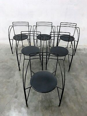 PASCAL MOURGUE 80s 90s BISTRO GARDEN TERRACE PATIO CAFE METAL CHAIRS