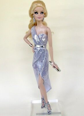 Brand new Collectible Silver Model Muse Barbie Doll Dress