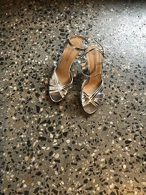 Silver Heels 'After Hours' Brand Size 9