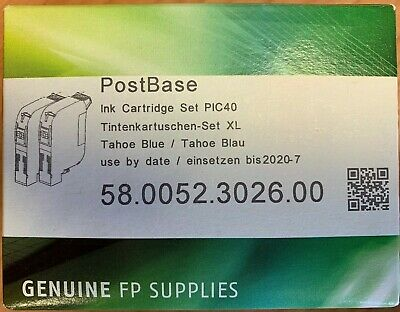 Blue Original FP Francotyp Postalia Postbase XL 42ml Ink Cartridge 2 Pack
