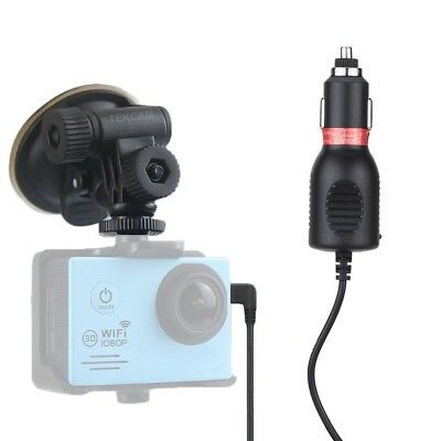 TEKCAM Action Camera Car Charger Mount Suction Cup Bracket for Waterproof