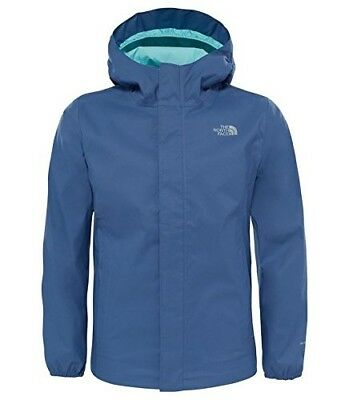 (Small, Coastal Fjord Blue) - The North Face Girls' Resolve Reflective Jacket