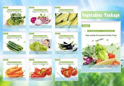 100-1000pc Vegetable Combo Pack Seeds Organic Edible Viable Bonsai Seeds in Home