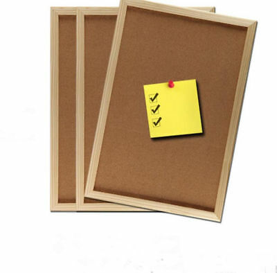 Large Cork Board Pins Corkboard Notice Memo Message Photos Wooden Frame Board