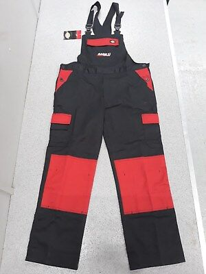 Dickies Case Ih Bib And Brace Overalls Adults Red / Black (Ff)