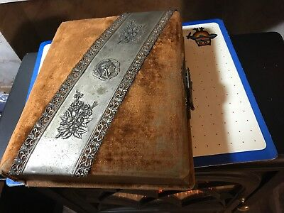 Antique Photo Picture Album Victorian Velvet 1900's Empty-A-91