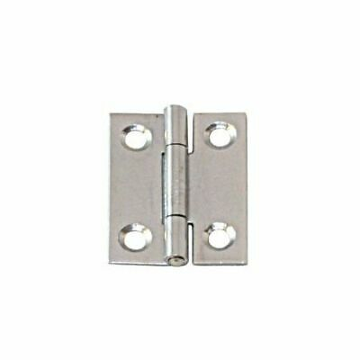 Narrow Hinge Stainless Steel Satin Finish 80 x 41 x 1.5mm LINDEMANN