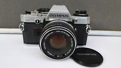 Olympus OM10 35mm SLR + 50mm f1.8 Zuiko Lens - Great student kit