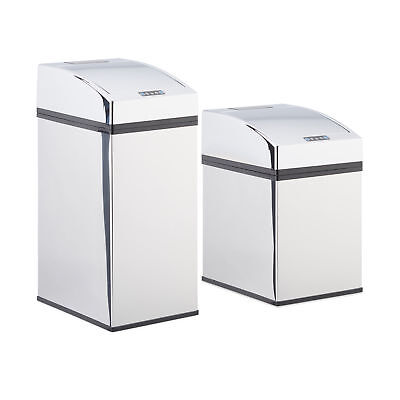 Sensor Waste Bin with Lid, Stainless Steel Trash Can with Liner Bucket, Kitchen