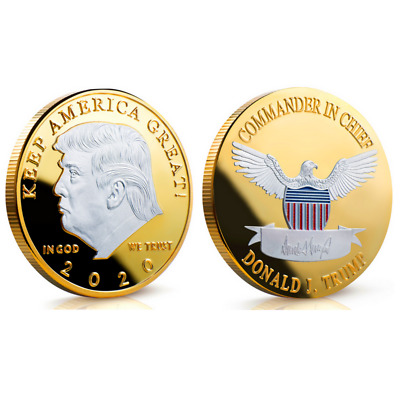 Donald Trump 2020 Silver & Gold Challenge Coin KEEP AMERICA GREAT Silver Eagle