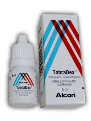 tobradex eye drops 0.169fl.oz /5ml otitis nose ears dogs cats mite USPS delivery