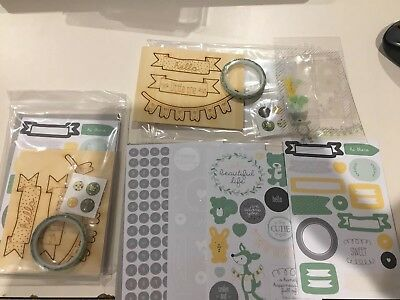 New- Stampin Up -2 pkts 'hello baby project life' accessory pack- scrapbooking