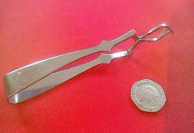 Great vintage silver plate mechanical sugar/ olive tongs