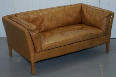 Rrp £1349 Halo Groucho Leather Small 2 Seater Sofa Matching Armchair Available