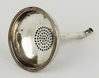 KING GEORGE III OLD SHEFFIELD PLATE WINE FUNNEL 2 Part Late 18th Century c1790